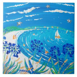 Azulejo da arte: Opinião do azul de Scilly do