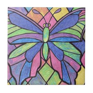 Azulejo da borboleta do vitral