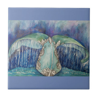 azulejo da cauda da baleia