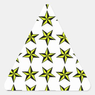 Azulejo da estrela adesivo triangular