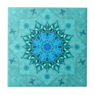Azulejo da mandala da natureza de turquesa