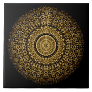 Azulejo da mandala do Sepia