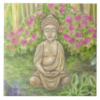 Azulejo da parede da estátua de Buddha