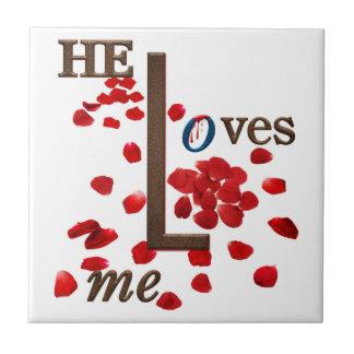 azulejo da rosa vermelha com mensagem do amor