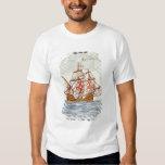 Azulejo de Azulejos que descreve um navio, de Sagr Tshirt