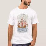 Azulejo de Azulejos que descreve um navio, de Tshirt