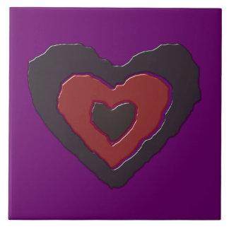 Azulejo de derretimento gótico do coração do amor
