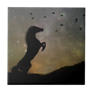 Azulejo de elevação selvagem da arte do cavalo
