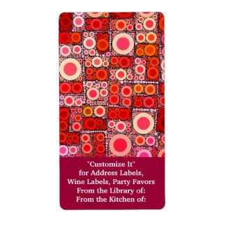 Azulejo de mosaico moderno legal do vermelho alara etiqueta de frete