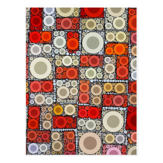 Azulejo de mosaico moderno legal do vermelho cartão postal
