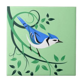 Azulejo decorativo da arte de Jay azul