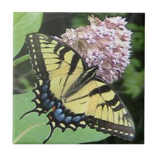 Azulejo decorativo da borboleta amarela de Swallow