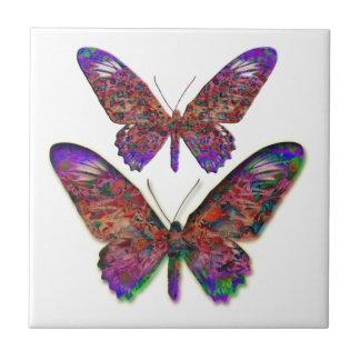 Azulejo decorativo das borboletas tropicais