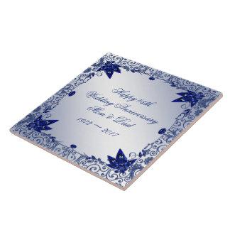 Azulejo do aniversário de casamento da safira 45th
