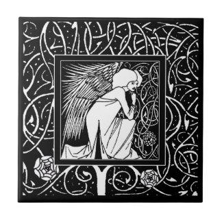 Azulejo do anjo de Beardsley do vintage