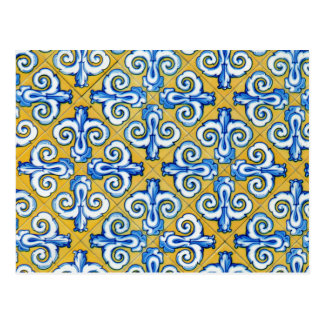 Azulejo do espanhol cartão postal