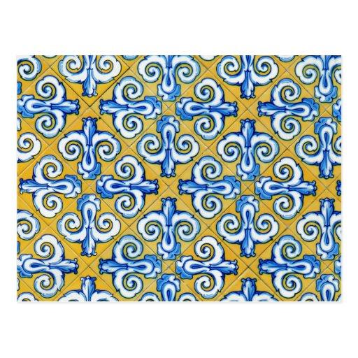 Azulejo do espanhol cartoes postais