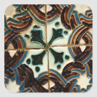 Azulejo do Moorish Adesivo Quadrado