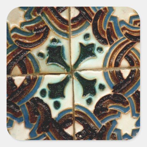 Azulejo do Moorish Adesivo Em Forma Quadrada