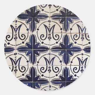 Azulejo do português do vintage adesivo