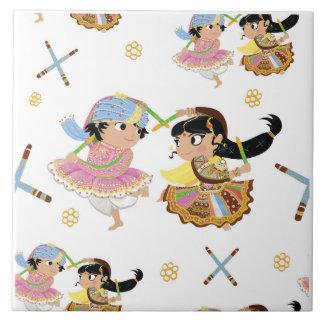 Azulejo dos Raas de Dandiya