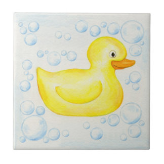 Azulejo Ducky de borracha amarelo