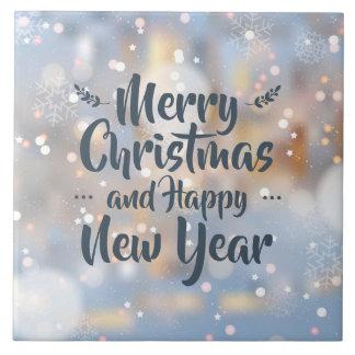 Azulejo elegante do Natal & do feliz ano novo |
