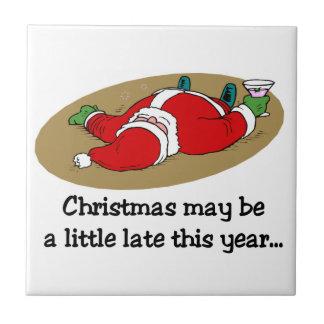 Azulejo engraçado Trivet do Natal
