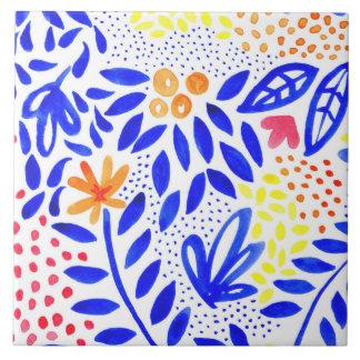 Azulejo floral corajoso do Belle - 2