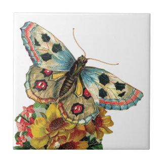 Azulejo floral da borboleta bonito