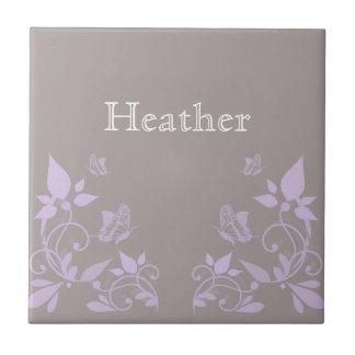 Azulejo floral da borboleta do Lilac