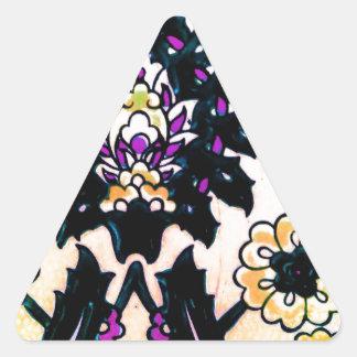 Azulejo floral do turco do otomano do vintage adesivo triangular