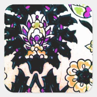 Azulejo floral do turco do otomano do vintage adesivo quadrado