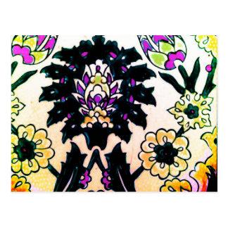 Azulejo floral do turco do otomano do vintage cartão postal