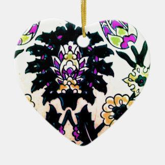 Azulejo floral do turco do otomano do vintage ornamento de cerâmica coração