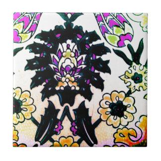 Azulejo floral do turco do otomano do vintage trad