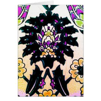 Azulejo floral do turco do otomano do vintage trad cartao
