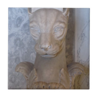Azulejo--Gato egípcio Azulejo Quadrado Pequeno