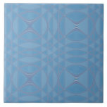 Azulejo geométrico azul da canção da manhã 6 poleg
