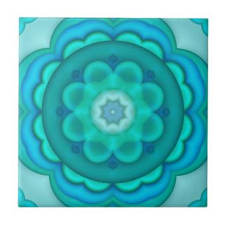 Azulejo geométrico do banheiro de turquesa