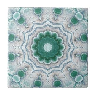 Azulejo geométrico verde do banheiro da fantasia