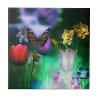 Azulejo ideal do jardim da borboleta