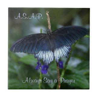 azulejo inspirado da borboleta azul