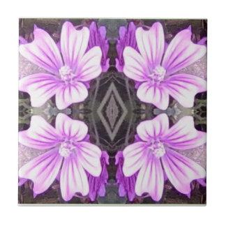 Azulejo malva do Fractal da flor