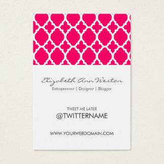 Azulejo marroquino do rosa quente dos cartões de