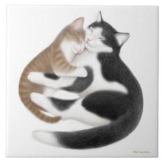Azulejo maternal do amor do gatinho