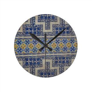Azulejo mexicano relógios para paredes
