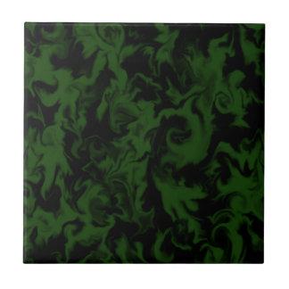 Azulejo misturado verde escuro & preto da cor