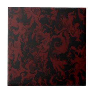 Azulejo misturado vermelho & preto da obscuridade