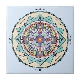 Azulejo nativo da mandala dos símbolos
